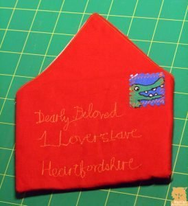 How to sew a fabric envelope, tutorial by Marion Boddy-Evans