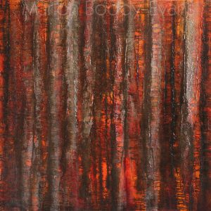 Tree Painting: Listening to the Sun Rise by Skye artist Marion Boddy-Evans