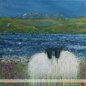 Commissioned Sheep Painting Scotland artist