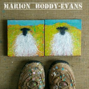 Examples of my small Skye Flock sheep paintings by Marion Boddy-Evans