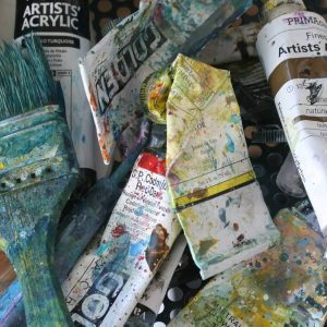 studio paints brushes Marion Boddy-Evans