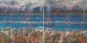 Occasional Showers Minch seascape painting