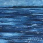 Painting Minch seascape Isle of Skye artist Marion Boddy-Evans