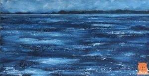 Painting Minch seascape Isle of Skye artist Marion Boddy-Evans