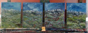 Skye Cuillins mountains paintings