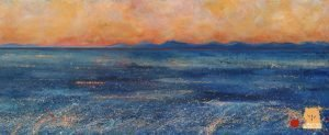Fiery Summer Minch painting by Marion Boddy-Evans Isle of Skye Scotland