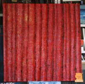 Red wood painting