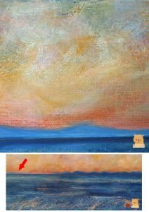 Detail of Sunset Sky in Minch 9 Painting