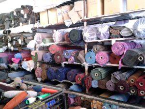 Inside the Tweed shed in Tarbert