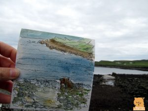 Sketching on the Isle of Skye in Scotland with watercolour and black pen