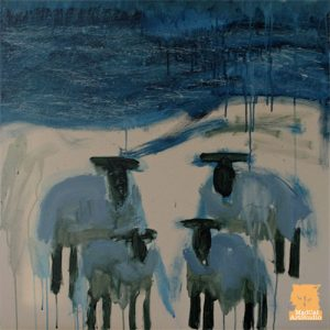 Scottish sheep painting by Marion Boddy-Evans
