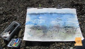 Plein air watercolour on Skye