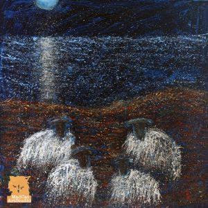 Moonlighting Sheep Painting