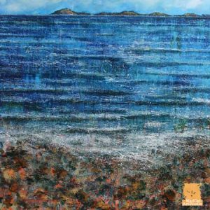 Across the Minch Painting seascape by Marion Boddy-Evans Scotland Artist