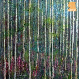 Foxgloves Forest Painting seascape by Marion Boddy-Evans Scotland Artist