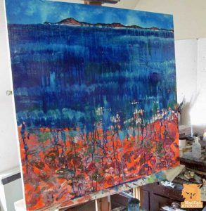 Waiting for paint to dry on a seascape