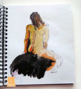 Life drawing by Marion Boddy-Evans