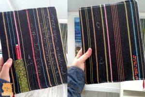 Fabric Covered Sketchbooks with free-motion embroidery