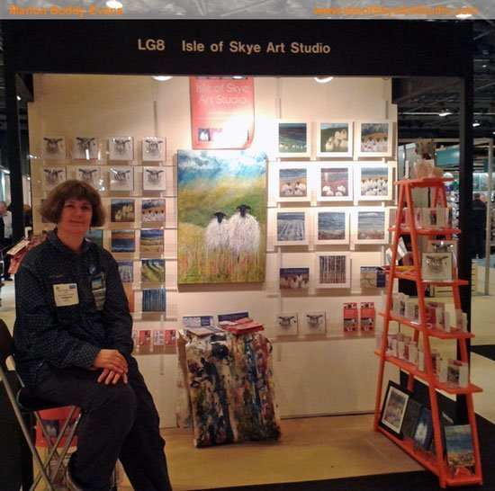 Isle of Skye Art Studio at Scottish Trade Fair SECC Spring 2014