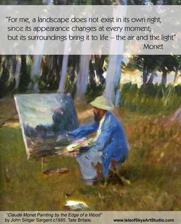 Art Quote: Monet on Landscape