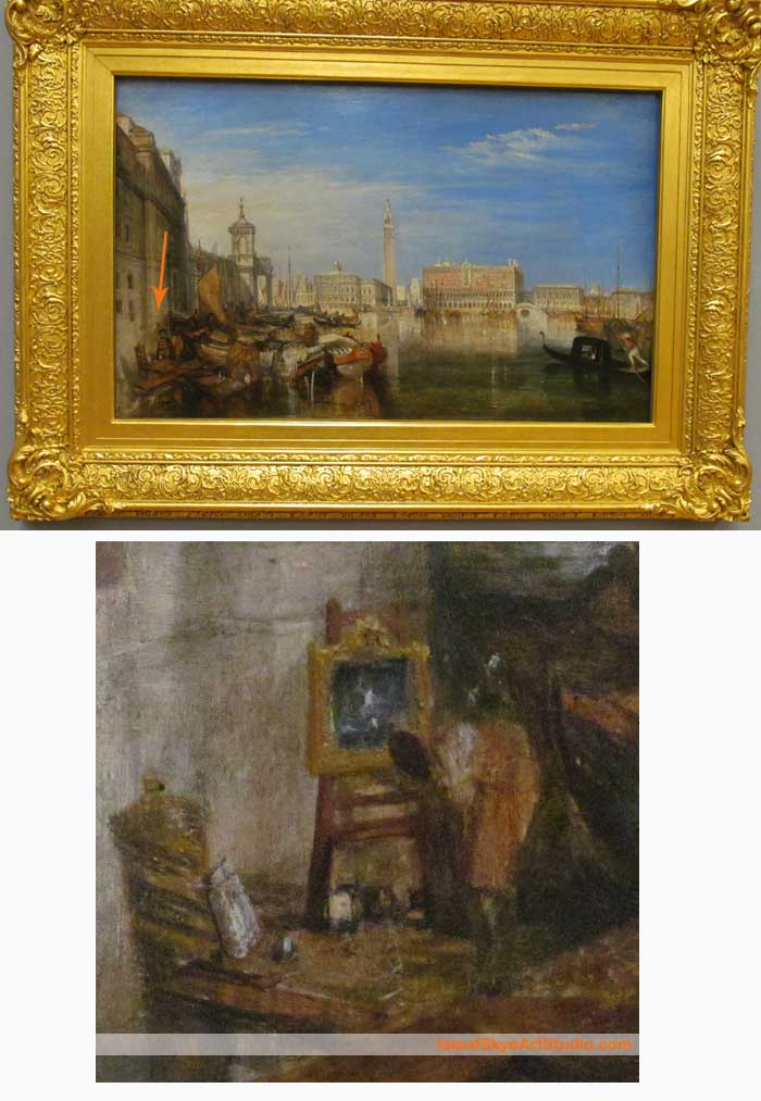 Turner Painting Canaletto in Venice