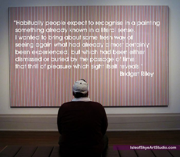 Artist Bridget Riley Quote