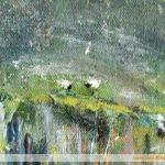 Detail: Tiny Sheep in a Painting