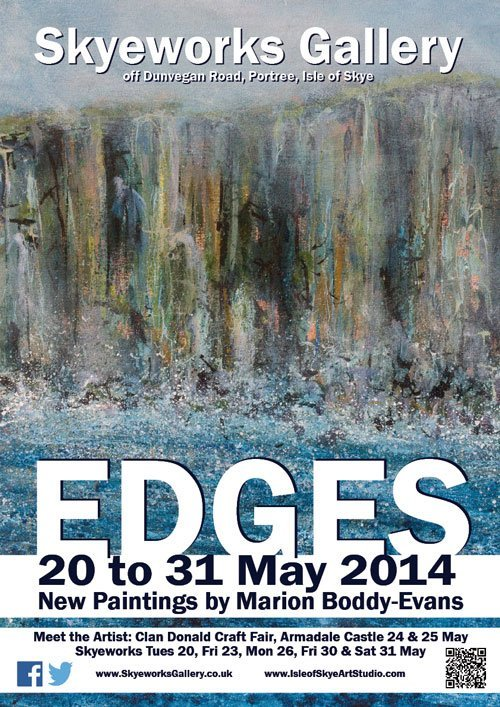 Edges Painting Exhibition 2014 Isle of Skye Scotland Marion Boddy-Evans