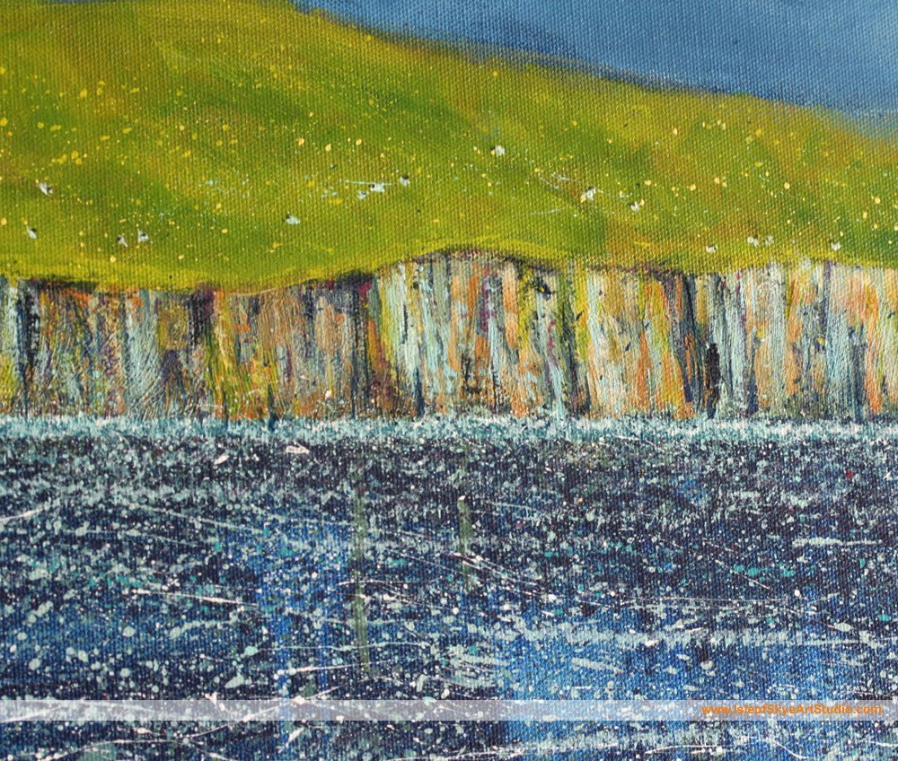 Detail: Distant Cliffs and Hill Painting