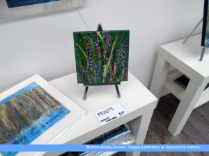Small wild flower painting from Edges Exhibition by Skye artist Marion Boddy-Evans at Skyeworks in Portree