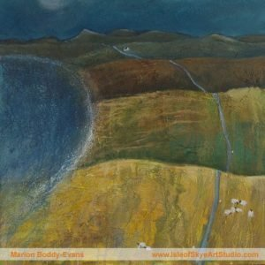 Edges: Round the Corner Painting by Skye artist Marion Boddy-Evans