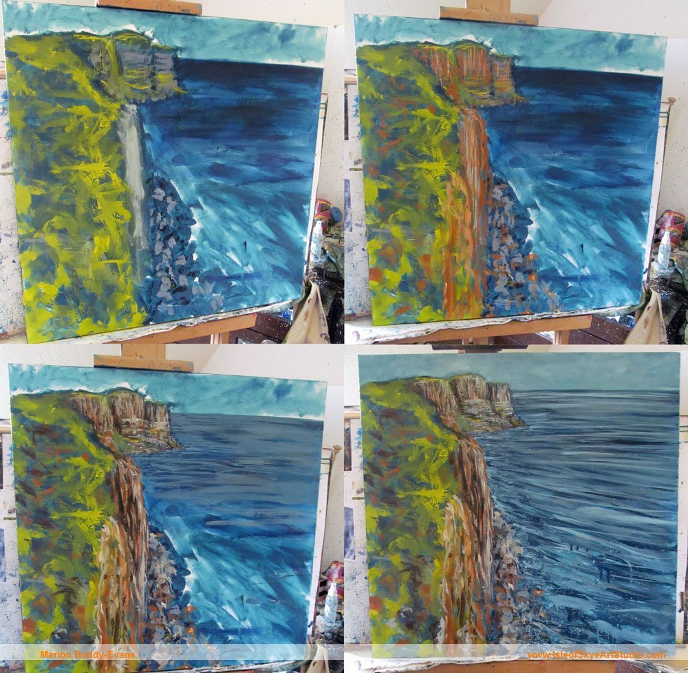 Painting Work in Progress: Kilt Rock