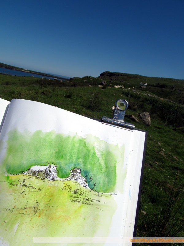 Skye  Sketching: Staffin Sheep
