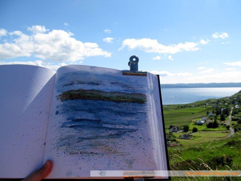 Skye  Sketching: Overlooking Uig