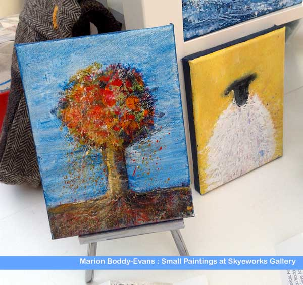 Small Paintings at Skyeworks Gallery Isle of Skye