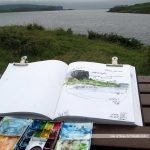 Sketching View near Struan, Skye