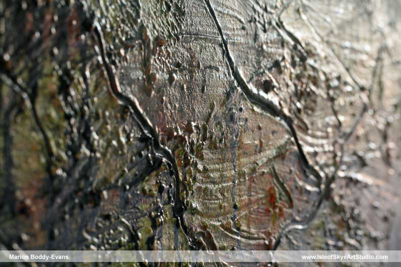 Texture in a painting