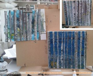 Painting birch trees on Skye