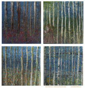 Painting trees in an art workshop on Skye, Scotland