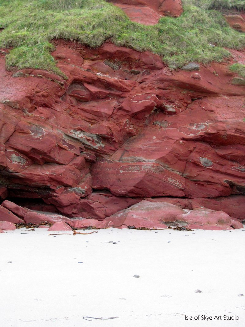 Complementary colours on a white ground at Gardenstown Scotland