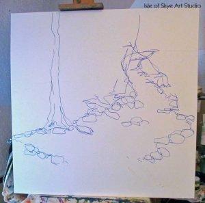 Painting-in-Progress: Stream Sketch