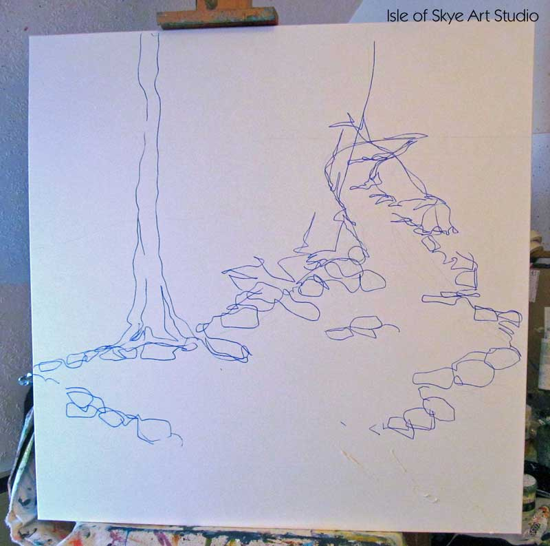 Painting-in-Progress: Stream Sketch