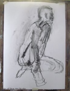 Charcoal life drawing