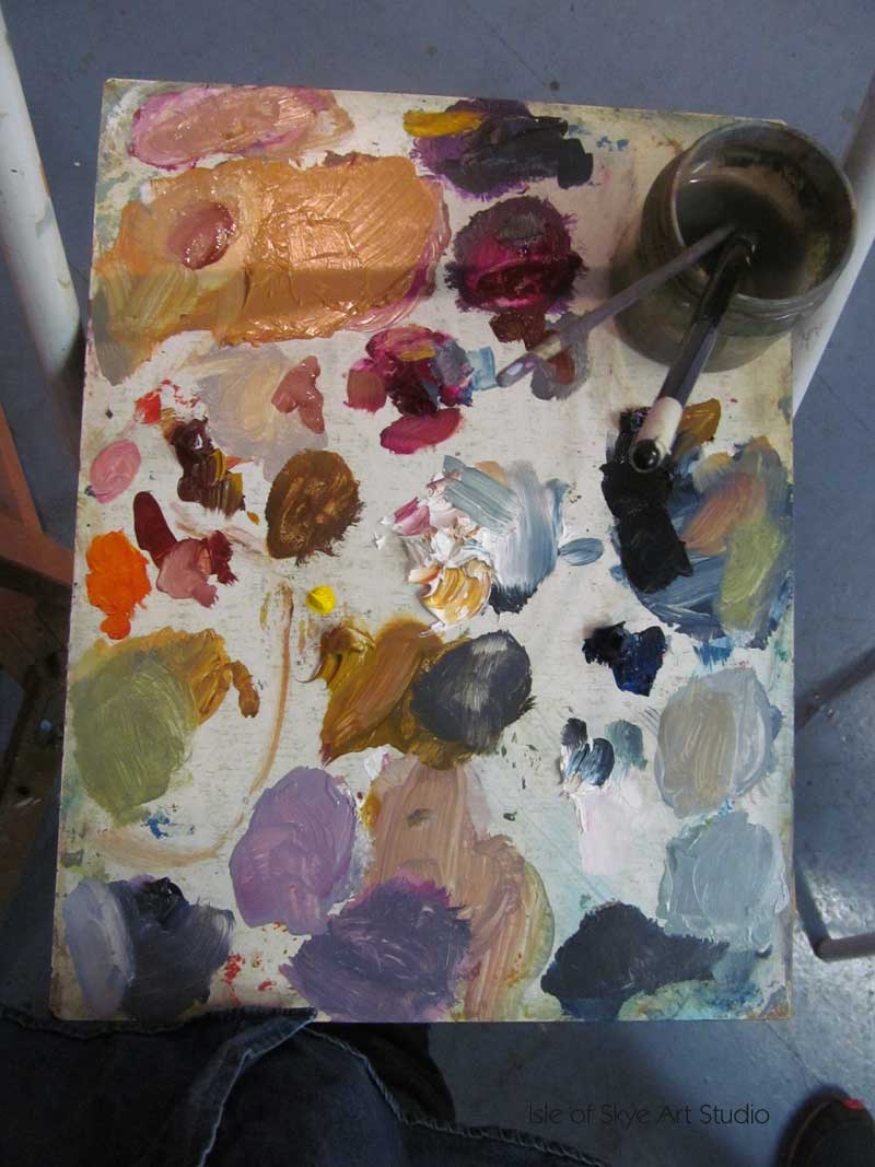 My working oil painting palette
