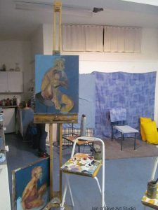 My position in the studio