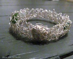 Seaglass wirework bracelet
