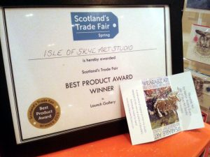2015 winner best product in Launch Gallery at Scottish Trade Fair Spring 2015