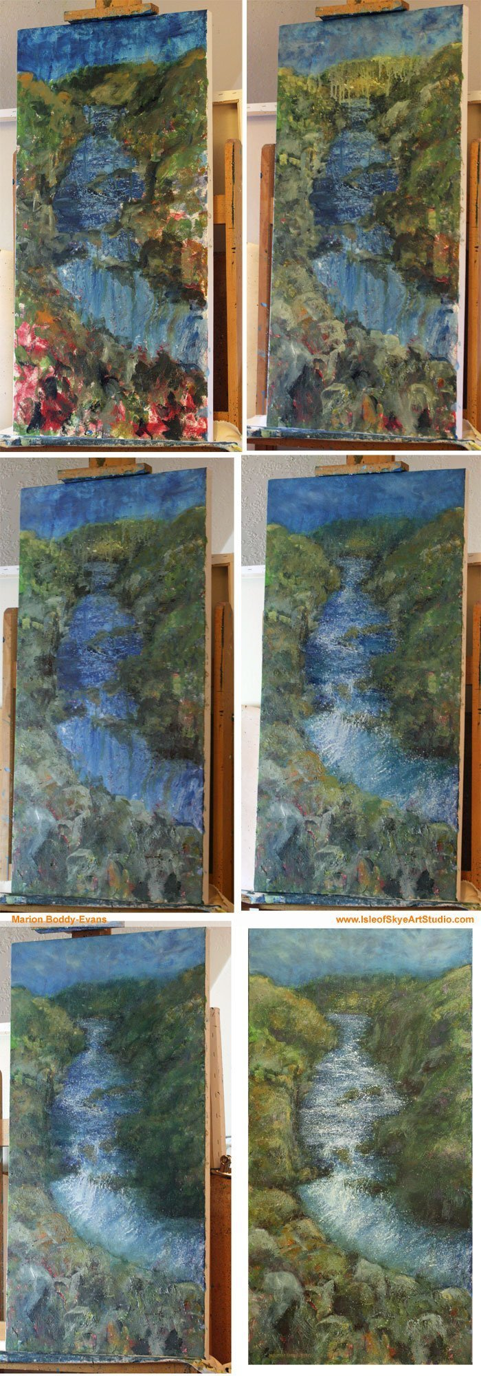 Ebb & Flow Exhibition: River #1 Step by step