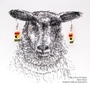 Sheep Earring Cards