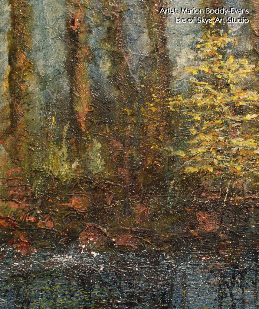Detail from Yellow Tree: Flowing Past
